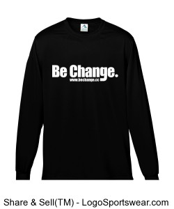 Be Change Adult Long Sleeve Moisture Wicking T-shirt Mens Design Zoom
